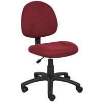 Boss B315-BY Burgundy Tweed Perfect Posture Deluxe Office Task Chair