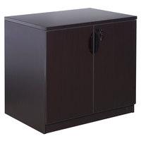 Boss N113-MOC Mocha Laminate Storage Cabinet - 31 inch x 22 inch x 29 1/2 inch