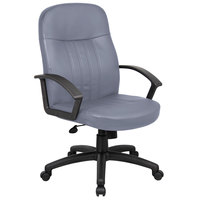 Boss B8106-GY Grey Executive Leather Budget Chair