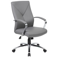 Boss B10101-GY Grey LeatherPlus Executive Chair