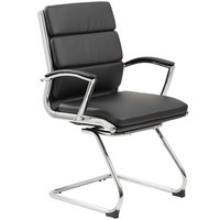 Boss B9479-BK Black CaressoftPlus Executive Guest Chair