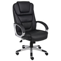 Boss B8601 Black LeatherPlus NTR Executive Chair
