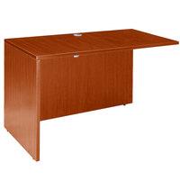 Boss N145-C Cherry Laminate Reversible Return Desk - 47 inch x 24 inch x 29 inch
