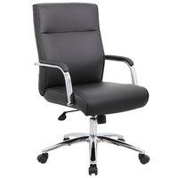 Boss B696C-BK Modern Executive Black CaressoftPlus Conference Chair
