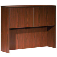 Boss N339-M Mahogany Laminate Two Door Hutch - 48 inch x 12 inch x 36 inch