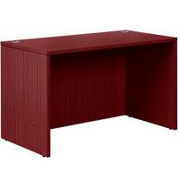Boss N104-M Mahogany Laminate Desk Shell - 48 inch x 24 inch x 29 inch
