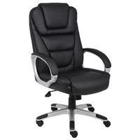 Boss B8602 Black LeatherPlus NTR Executive Chair with Knee Tilt
