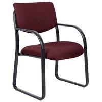 Boss B9521-BY Burgundy Fabric Guest Chair