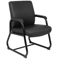 Boss B709 Black Heavy Duty Caressoft Guest Chair