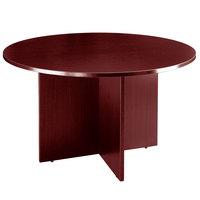 Boss N123-M Mahogany Laminate 47 inch Round Office Table