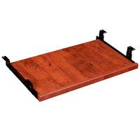 Boss N200-C 23 1/2 inch x 14 1/2 inch Cherry Laminate Keyboard Tray for Desk Shells