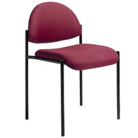 Boss B9505-BY Diamond Burgundy Stacking Chair