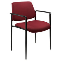 Boss B9503-BY Diamond Burgundy Square Back Stacking Chair with Arms