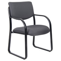 Boss B9521-GY Grey Fabric Guest Chair