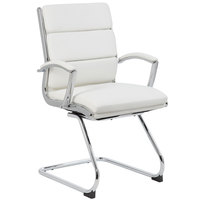 Boss B9479-WT White CaressoftPlus Executive Guest Chair