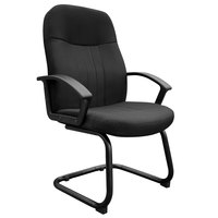 Boss B8309-BK Black Fabric Guest Chair