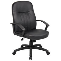 Boss B8106 Black Executive Leather Budget Chair
