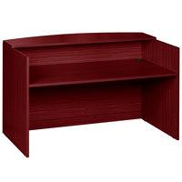 Boss N169-M Mahogany Laminate Reception Desk - 71 inch x 30 inch x 42 inch