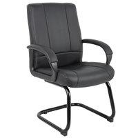 Boss B7909 Black Caressoft Mid Back Guest Chair