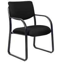 Boss B9521-BK Black Fabric Guest Chair