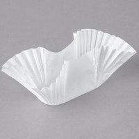 Hoffmaster 610750 White Paper Fluted Burger Cup / Taco Holder / Bagel Blanket - 250/Pack