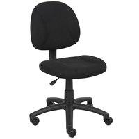 Boss B315-BK Black Tweed Perfect Posture Deluxe Office Task Chair