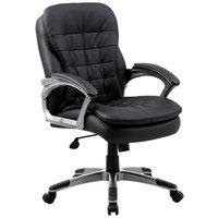 Boss B9336 Black Mid Back Executive Pillow Top Chair