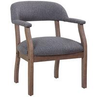 Boss B9540DW-SG Slate Grey Linen Modern Captain's Chair