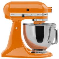 KitchenAid KSM150PSTG Tangerine Artisan Series 5 Qt. Countertop Mixer