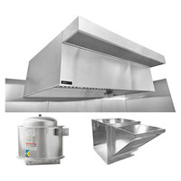 Halifax 421PSPHP1248 Type 1 12' x 48 inch Commercial Kitchen Hood System with PSP Makeup Air