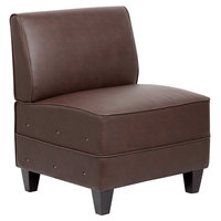 Boss BRS12-BB Bomber Brown Reception Sectional Sofa
