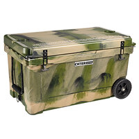 CaterGator CG65CAMOW Camouflage 65 Qt. Mobile Rotomolded Extreme Outdoor Cooler / Ice Chest