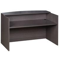 Boss N169-DW Driftwood Laminate Reception Desk - 71 inch x 30 inch x 42 inch
