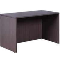 Boss N104-DW Driftwood Laminate Desk Shell - 48 inch x 24 inch x 29 inch