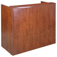 Boss N168-C Cherry Laminate Reception Desk Shell - 48 inch x 26 inch x 41 1/2 inch