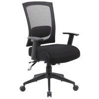 Boss B6716-SS-BK Black Mesh 3-Paddle Task Chair with Seat Slider