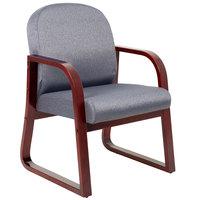 Boss B9570-GY Grey Fabric Mahogany Frame Side Chair