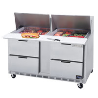 Beverage-Air SPED60HC-18M-4 60 inch 4 Drawer Mega Top Refrigerated Sandwich Prep Table