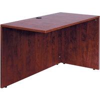 Boss N196-M Mahogany Laminate Reversible Return Desk - 42 inch x 24 inch x 29 1/2 inch