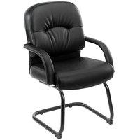 Boss B7409 Black Caressoft Vinyl Mid Back Guest Chair