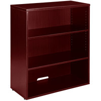 Boss N153-M Mahogany Laminate 3-Shelf Hutch / Bookcase - 31 inch x 14 inch x 36 inch