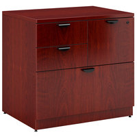 Boss N114-M Mahogany Laminate Combination Lateral File Cabinet - 31 inch x 22 inch x 29 inch
