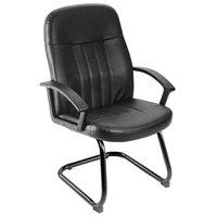 Boss B8109 Black Executive LeatherPlus Budget Guest Chair