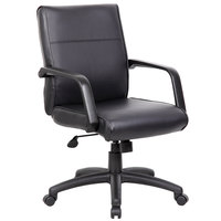 Boss B686 Black LeatherPlus Executive Chair