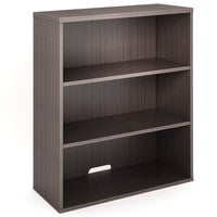 Boss N153-DW Driftwood Laminate 3-Shelf Hutch / Bookcase - 31 inch x 14 inch x 36 inch