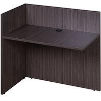 Boss N180-DW Driftwood Laminate Reversible Reception Return Desk - 42 inch x 24 inch x 29 inch