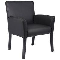 Boss B639-BK Black Executive Box Arm Chair with Black Legs