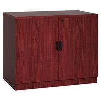 Boss N113-M Mahogany Laminate Storage Cabinet - 31 inch x 22 inch x 29 1/2 inch