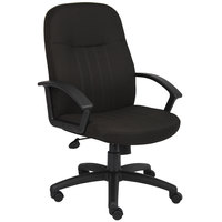 Boss B8306-BK Black Fabric Managers Chair