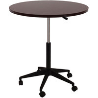 Boss N30-M Mahogany Laminate 32 inch Round Mobile Office Table